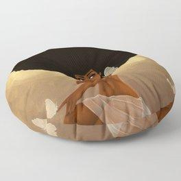 Fro and Butterflies Floor Pillow