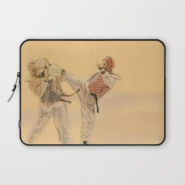 Tae Kwon Do Head Kick Laptop Sleeve