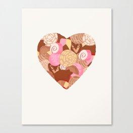 Corazón de Pan Dulce Canvas Print