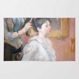 La Coiffure by Berthe Morisot Rug