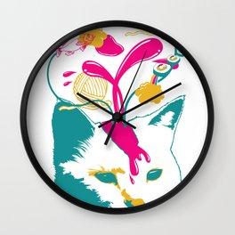 Liquid thoughts:Cat Wall Clock