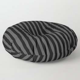 Black and Grey Stripe Floor Pillow