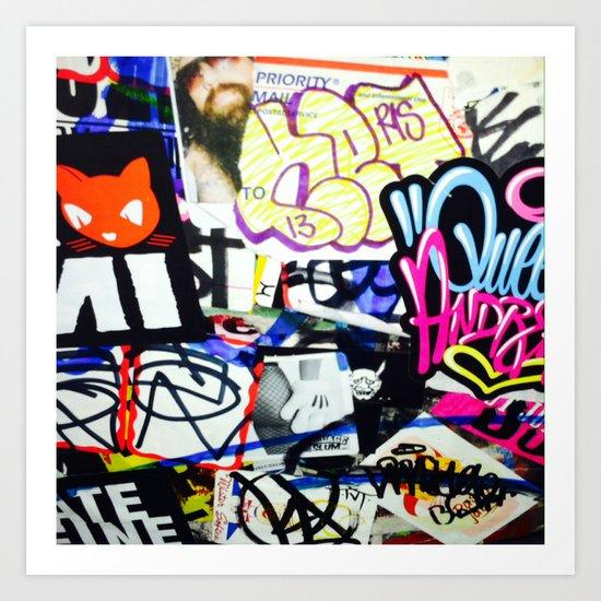 grafiti v.5 Art Print