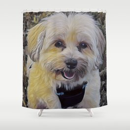 Havapookie Smiling Shower Curtain