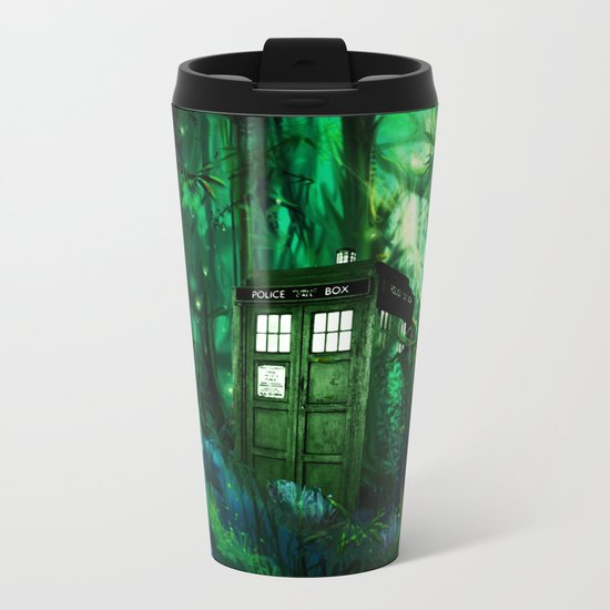Tardis in the forest 2 Metal Travel Mug