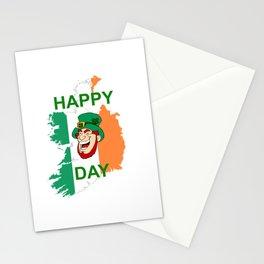 Happy St. Patrick´s Day lachender Kobold betrunken Irland Stationery Cards