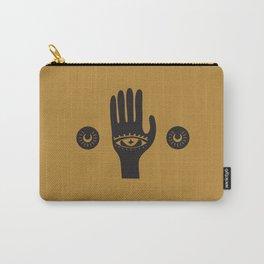 Golden Third Eye Palm Carry-All Pouch