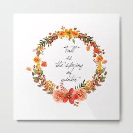 Flower fall Metal Print