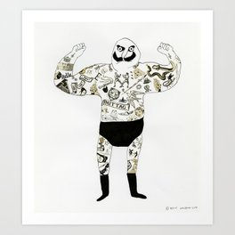 strongman Art Print