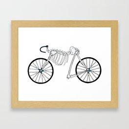 Skeleton Bike Framed Art Print