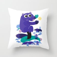 Taiji Panda Throw Pillow