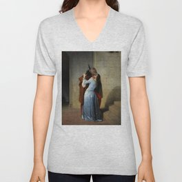 The Kiss (Il Bacio) - Francesco Hayez 1859 Unisex V-Neck