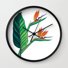 Watercolor Bird of Paradise Wall Clock