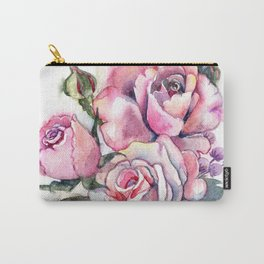 watercolor roses. bridal bouquet Carry-All Pouch