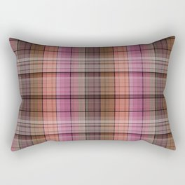 Pattern the cage 1 .  Pink , brown. Rectangular Pillow