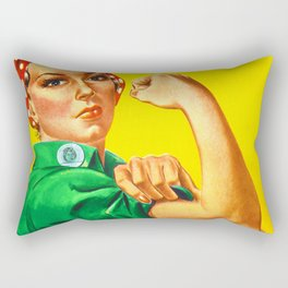 Italian Rosie The Riveter Woman Women Empowerment Women's Rights Italian American Rectangular Pillow