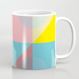 Pastel colours geometrical pattern Coffee Mug