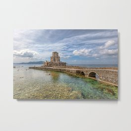 The castle of Methoni in Messinia, Greece Metal Print