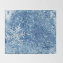 Winter wonderland Snowflakes Throw Blanket