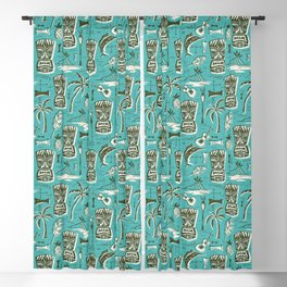 Tropical Tiki - Aqua Blackout Curtain