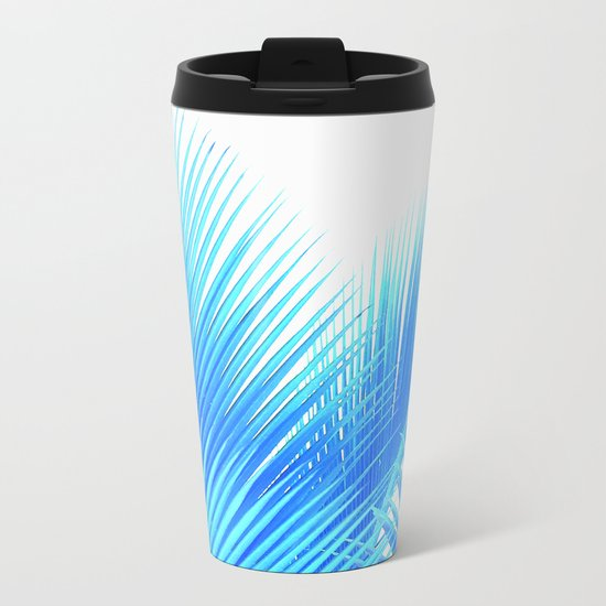 Winter Palm Metal Travel Mug