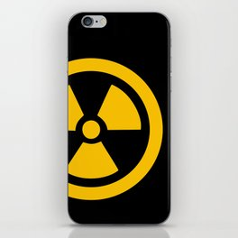 Yellow Radioactive iPhone Skin