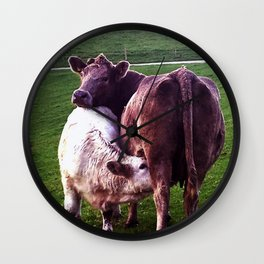 Cows on the field Wall Clock