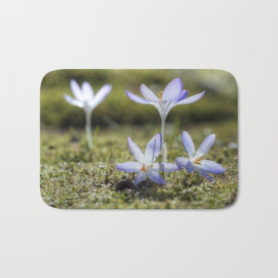 Queen and court- Crocus  Springflowers Bath Mat