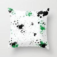 splatter Throw Pillows featuring Splatter by Inphocus Photography