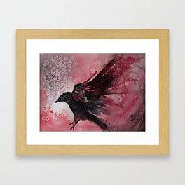 Abstract Crow Framed Art Print
