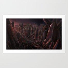 Corrupted Island Art Print