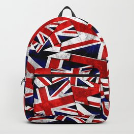 Union Jack British England UK Flag Backpack