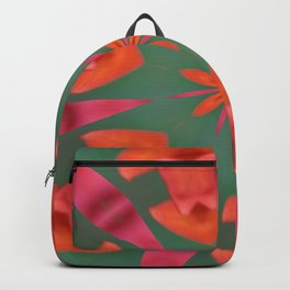 Succulent Red and Yellow Flower Abstract I Backpack