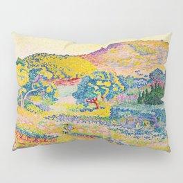 Henri-Edmond Cross Neo-Impressionism Landschaft mit Le Cap Nègre Paysage avec le cap Nègre Pillow Sham