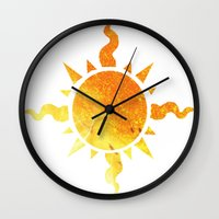 homestuck Wall Clocks featuring Light by Darkerin Drachen