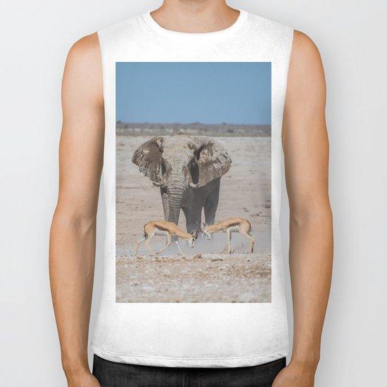 Elephant Safari Biker Tank