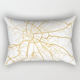 BUDAPEST HUNGARY CITY STREET MAP ART Rectangular Pillow