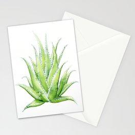 Aloe Vera Watercolor Stationery Cards