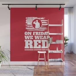 Wear Red Friday Veteran Soldier Wall Mural