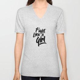 Fight like a girl Unisex V-Neck