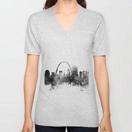 St Louis Missouri Skyline Unisex V-Neck