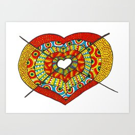 Stabbed heart Art Print