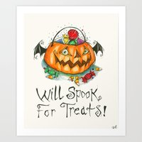 Will Spook For Treats! Art Print