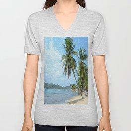 The Caribbean beach 01 Unisex V-Neck