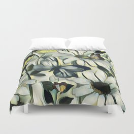 Spring Delight - Flowers And Butterflies Duvet Cover