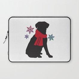 Black Dog Winter Laptop Sleeve