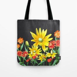 Bright At Midnight Floral Tote Bag