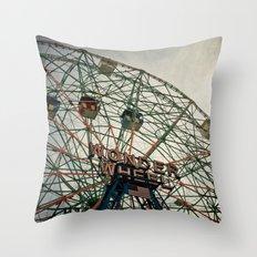 Coney Island Wonder Wheel Throw Pillow