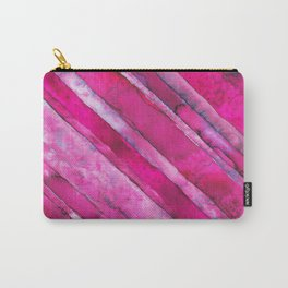 Pink Stripe #2 Carry-All Pouch