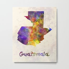 Guatemala  in watercolor Metal Print